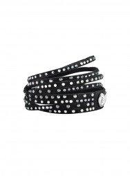 Alcantara Armband schwarz