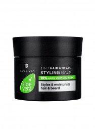 Aloe Vera Mens Essentials 2in1 Haar & Bart Styling Balm