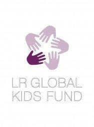 LR Global Kids Fund Aufkleber weiß